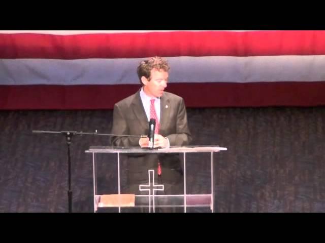 Rand Paul at Iowa Faith and Freedom Coalition, pt. 2