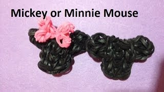 How to Make a Mickey/Minnie Mouse Head Charm on the Rainbow Loom - Original Design