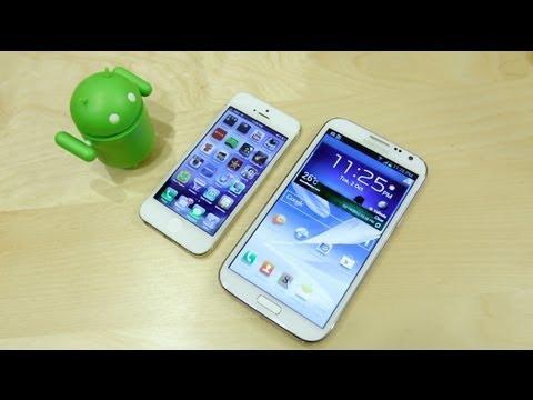 Apple iPhone 5 vs Samsung Galaxy Note 2 (II) Speedtest!