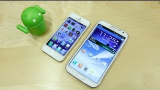 Apple iPhone 5 vs Samsung Galaxy Note 2 (II) Speedtest!