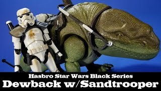 Star Wars Black Series Dewback with Sandtrooper Hasbro A New Hope Review