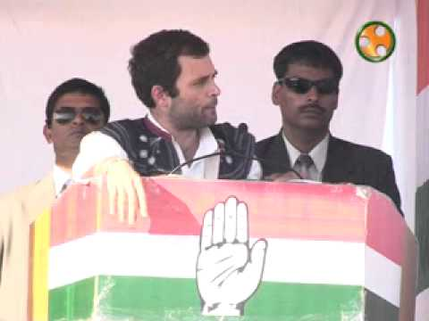Shri Rahul Gandhi addressing an election Rally at Ruhadi (Gujarat)