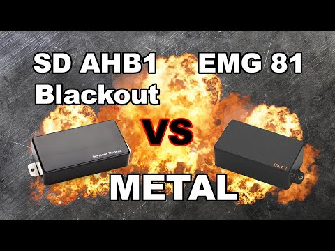 EMG 81 vs Seymour Duncan Blackout AHB-1 - Metal
