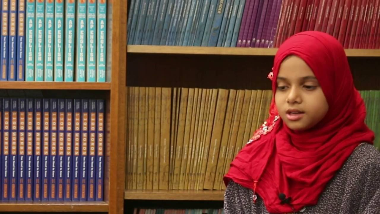 Maryam is reciting the last 10 verses of Surah Al-Kahf