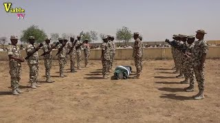 Must Watch: Videos of Nigerian Military's Ceremonial Burial for Fallen Heroes.