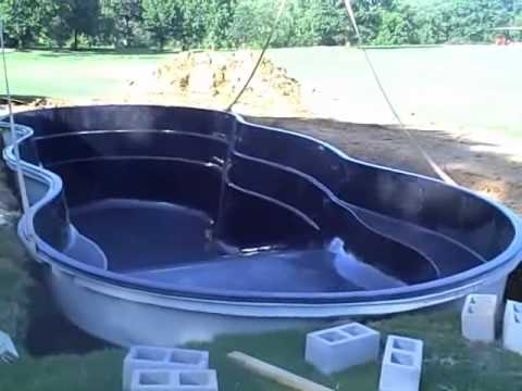 Leisure pools first deep end fiberglass pool installed in for Deep swimming pools for garden