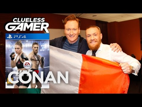 """Clueless Gamer: """"UFC 2"""" With Conor McGregor  - CONAN on TBS"""