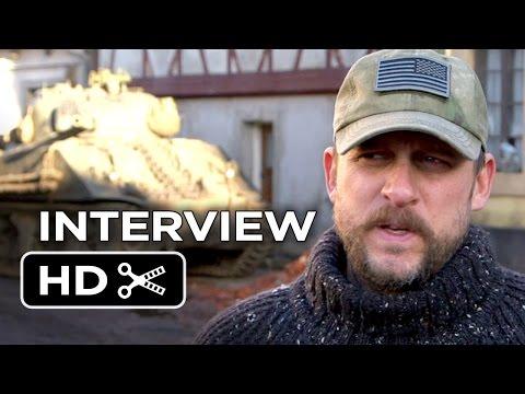 Fury Interview - David Ayers (2014) - Shia LaBeouf, Brad Pitt War Drama HD