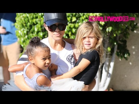 North West & Penelope Disick Go To Ballet Class With Kourtney Kardashian 10.21.15