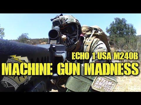 DesertFox Airsoft: Machine Gun Madness (Echo 1 M240 Bravo Gameplay)