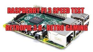 RetroPie: Raspberry Pi 3 - Speed test - N64 / Dreamcast / PSX / SNES