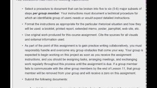 Technical Instructions Assignment (Revised)