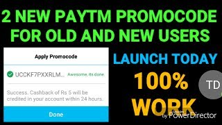 2 NEW PAYTM PROMOCODE FOR OLD & NEW USERS .....