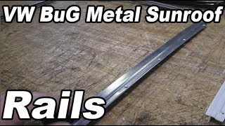 Classic VW BuGs Vintage Beetle Metal Sunroof Headliner Install Rails Intro