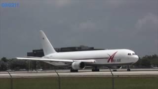 TX SpoX 20160618 - ABX Air 767 pulls fast one in 45 secs