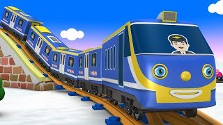 Polar Town -  Cartoon Videos for Children - Choo Choo Train - Toy Factory Cartoon - Trains for Kids