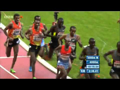 Men 5000m Diamond League Paris 2012