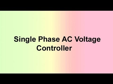 Single Phase Ac Voltage Controller Youtube