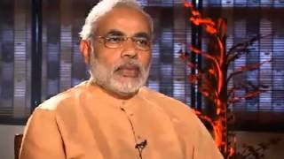 Narendra Modi walking out of Karan Thapar Interview