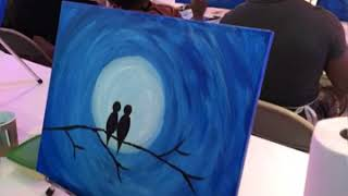 How to Create an Acrylic Painting (Virginia) by Painting Circle, (March, 14, 2019)