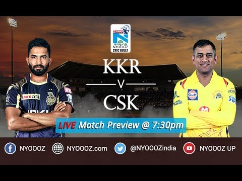 Chennai Superkings vs Kolkata IPL 2018 Match Preview | KKR vs CSK | Kolkata bats first