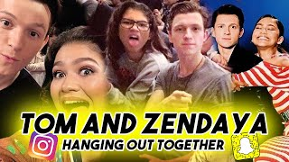 TOM HOLLAND AND ZENDAYA CANT STOP MAKING EACH OTHER LAUGH | Snapchat Instagram Funny Moments