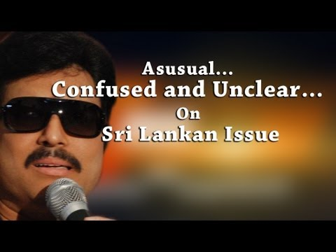 As Usual... Confused And Unclear... On Sri Lankan Issue, Confused Star Karthik [red Pix] video