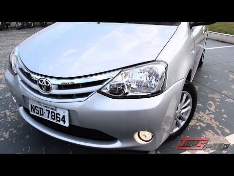Test Drive Toyota Etios XLS  1.5 2014 (Canal Top speed)