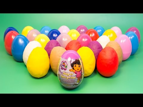 Surprise Eggs Dora The Explorer Play Doh Eggs Dora La Exploradora Даша — путешественница Toys video