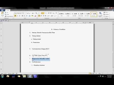 membuat daftar isi menggunakan ms.word 2010