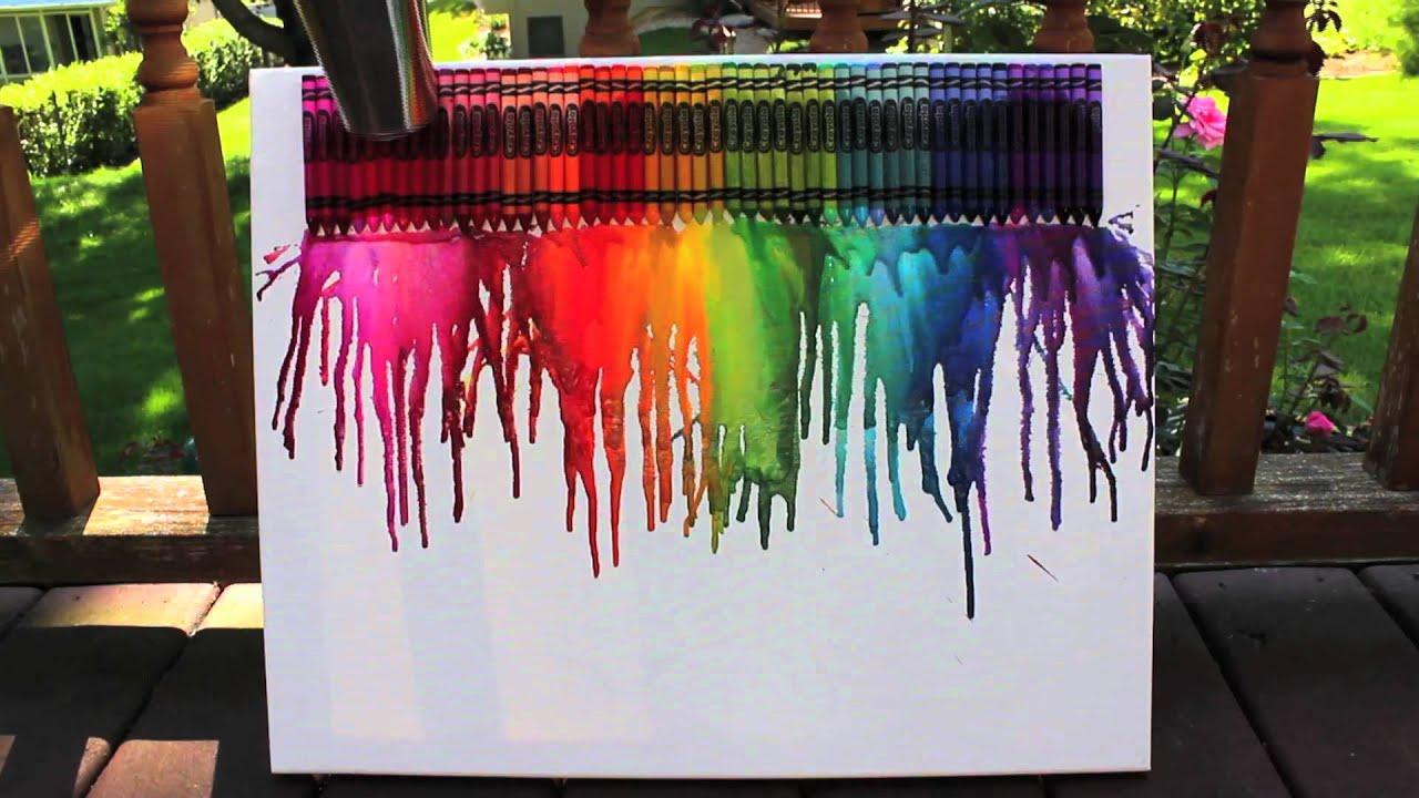 crayon melting splatter paint youtube. Black Bedroom Furniture Sets. Home Design Ideas