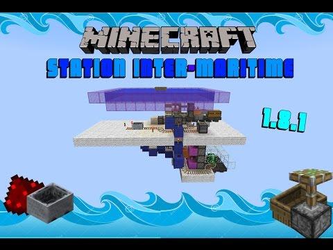 TUTO : Station inter-maritime minecart ; Minecraft 1.8.1