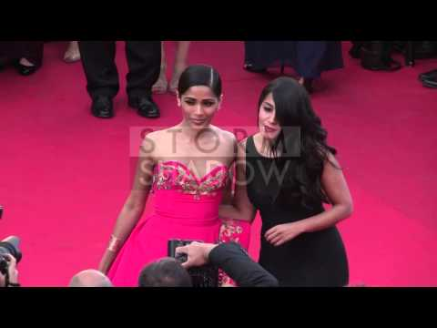 CANNES FILM FESTIVAL 2014 - Leila Bekhti, Freida Pinto on the red carpet in Cannes