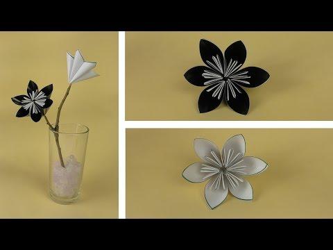 Цветок из бумаги своими руками для новичков