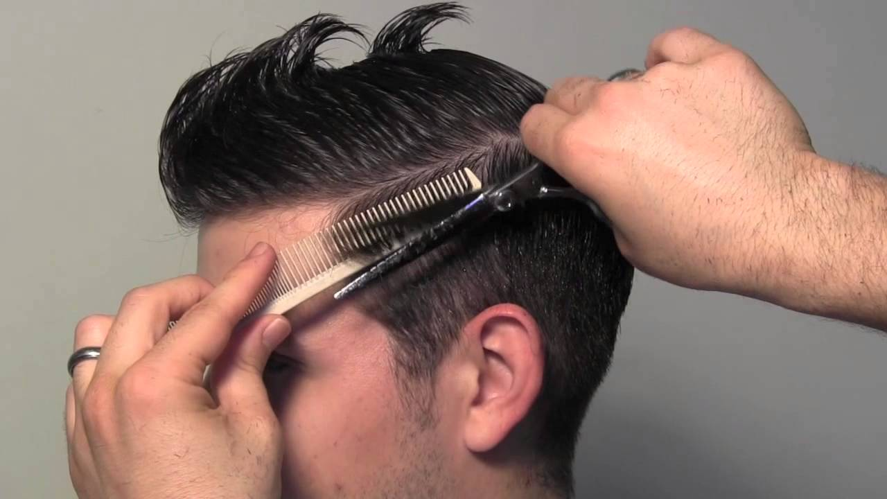 Style Of Hair Cutting : Classic Tailored Mens Hair Cut - YouTube