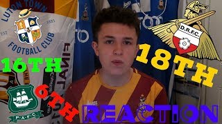 REACTING TO MY 2018/19 LEAGUE ONE TABLE PREDICTION