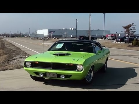 Test Driving 1970 Plymouth Cuda 572 Hemi Convertible and Walkaround