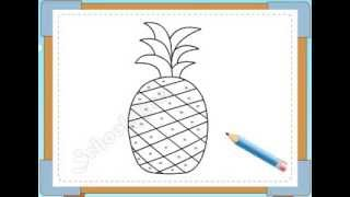 BÉ HỌA SĨ - Thực hành tập vẽ 128: Vẽ quả dứa