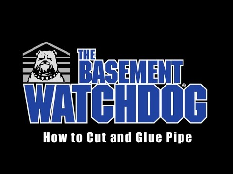 How to cut and glue sump pump PVC discharge pipe. Sump Pump installation tips