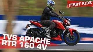 TVS Apache RTR 160 4V   Best RTR Yet? First Ride Review   ZigWheels