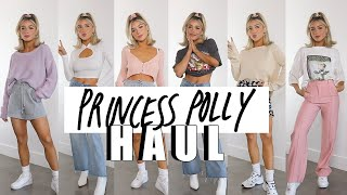 PRINCESS POLLY TRY ON HAUL | WORK FROM HOME AND SPRING OUTFITS