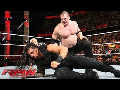 Kane Vs. Roman Reigns - Wwe App Vote Match: Raw, March 31, 2014 video