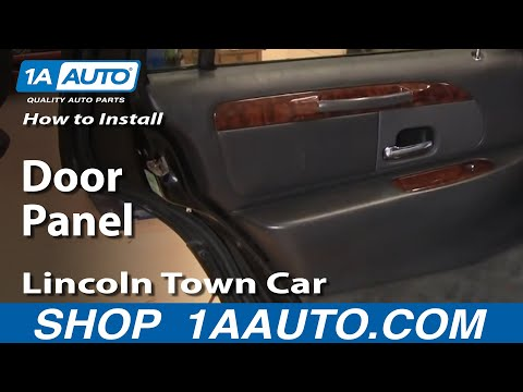 How To Install Replace rear Door Panel Lincoln Town Car 98-02 1AAuto.com