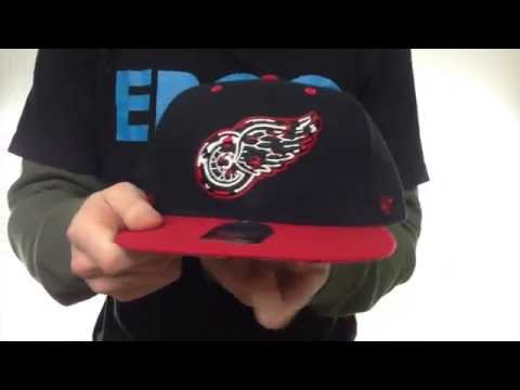 Red Wings 'THE-PLAINS LEOPARD SNAPBACK' Hat by Twins 47 Brand