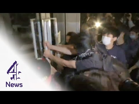 Hong Kong protesters storm parliament building