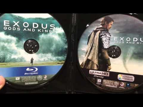 4k Blu Ray Case, Artwork, And Disc ( Exodus Gods and Kings)