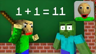 Monster School : BALDI'S BASICS BECOME TEACHER! - Minecraft Animation