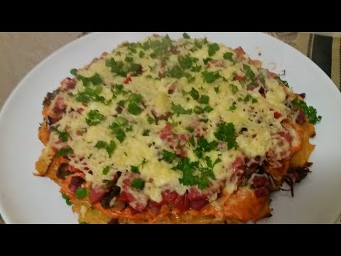 ПИЦЦА ПЯТИМИНУТКА Самая вкусная ПИЦЦА на сковороде  Pizza in five minutes