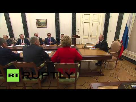 Russia: Putin meets Security Council to discuss EU gas deliveries, Ukraine