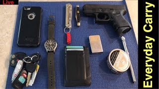 Everyday Carry (EDC) Pocket Dump Urban Carry